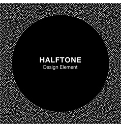 Abstract Halftone White Dots Frame vector image