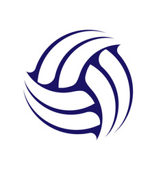 Abstract volleyball symbol vector