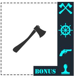 Axe icon flat vector