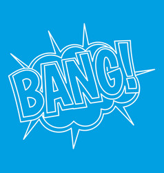 Bang explosion icon outline style vector