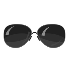 Black sunglasses icon gray monochrome style vector