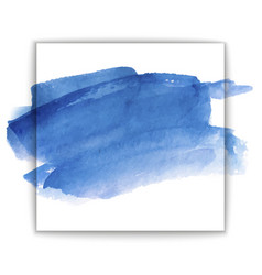 Blue watercolor background on white vector