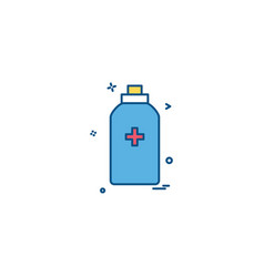 bottle tool first aid spary icon design vector image