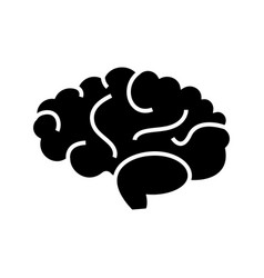 brain icon black sign on vector image