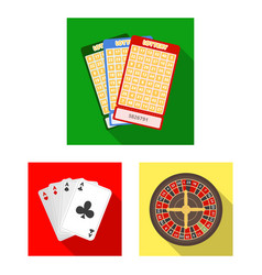 Casino and gambling flat icons in set collection vector