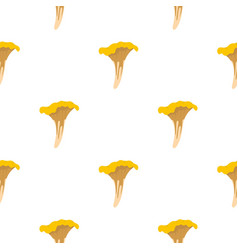 Chanterelle pattern flat vector