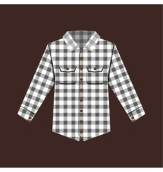 Cheskered shirt isolated vector image