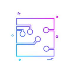 circuit board icon design vector image