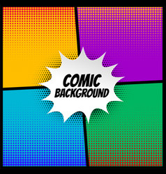 Comic halftone background in different colors vector