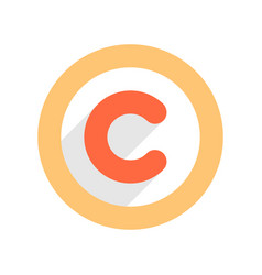 Copyright symbol or copyright sign in flat style vector