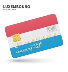 Credit card with Luxembourg flag background for vector