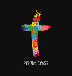 cross brush style pop art vector image