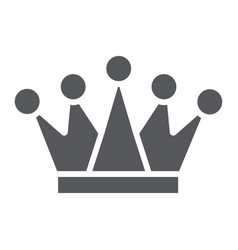 crown glyph icon royalty and leader royal sign vector image