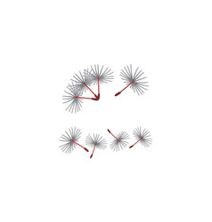 dandelion blowing marketing set vector image