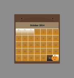 Design schedule monthly october 2014 calendar vector
