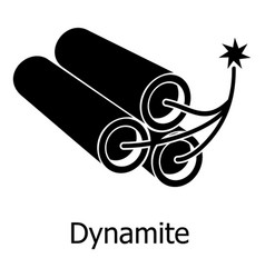 dynamite icon simple black style vector image