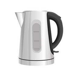 Electric kettle kitchen appliance isolated vector