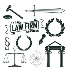 elements for lawyer logo design vector image