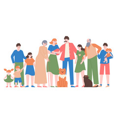 family portrait mom dad teenage daughter and vector image