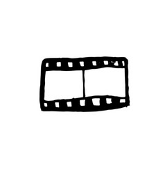 film reel icon grunge vector image