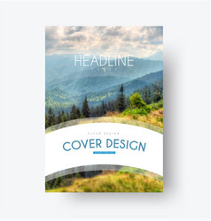 Flyer template with a white arc for the title and vector