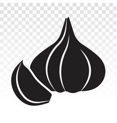 Garlic cloves allium sativum flat icons for apps vector