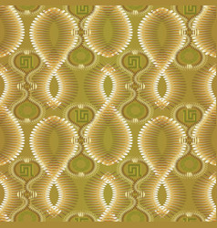 greek 3d textured seamless pattern light vector image