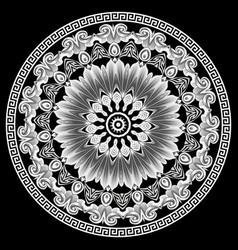 greek elegant mandala pattern tribal black vector image