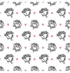 hand drawn romantic doodle pattern-16 vector image