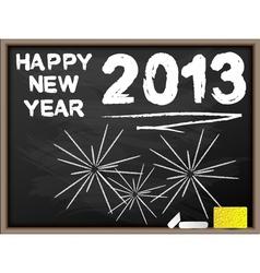 HAPPY NEW YEAR 2013 BLACKBOARD vector