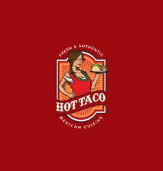 hot taco vector image