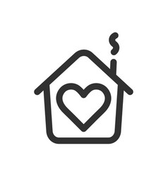 house with heart shape within love home symbol vector image