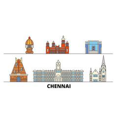 India chennai flat landmarks vector
