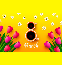 International women day 8 march cover banner vector
