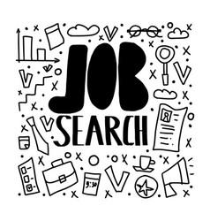 job search concept design vector image