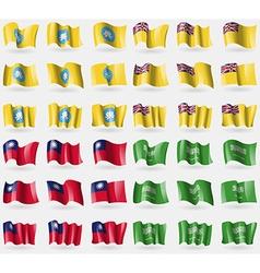 Kalmyikia niue taiwan saudi arabia set of 36 flags vector