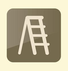 Ladder stepladder stair flat icon vector