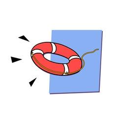 lifebuoys vector image vector image