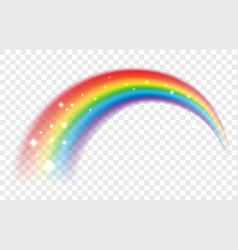 Lucky rainbow isolated on transparent vector