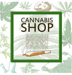 marijuana shop banner vector image