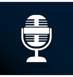 microphone icon broadcasting isolated journalist vector image