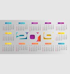 modern calendar for 2019 year vector image
