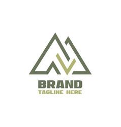 modern check mark mountains logo vector image