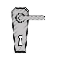 modern door handle icon vector image