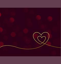 Nice golden creative valentines day hearts vector