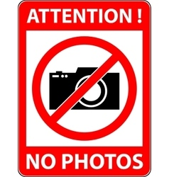 No photography camera prohibited symbol vector image