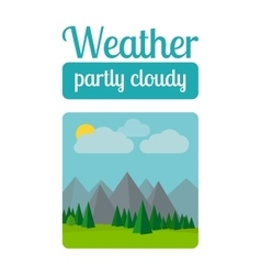 Partly cloudy weather vector