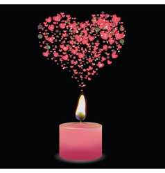 Pink candle vector