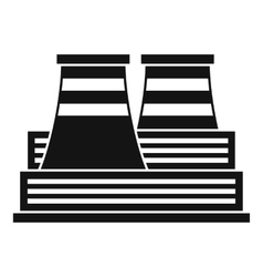 Power station icon simple style vector