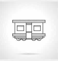 railroad transport flat line icon vector image